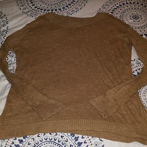 Zara Thin gold-brown tunic sweater Size L